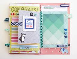 baby boy scrapbook album a mini scrapbook album for baby make today creative