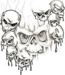 skull adn demon tattoo design img114 jpg 428 500 sunflower