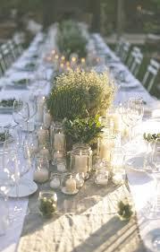 Table Top Herb Garden Rustic Luxury An Al Fresco Tuscan Wedding Sophisticated Wedding