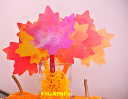 thanksgiving paper crafts b is 4 fall thanksgiving leaf banner u0026 centerpiece tbc craft hop