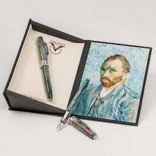 Executive Knight Pen Holder Visconti Van Gogh Self Portrait In Blue Fountain Pen Airline