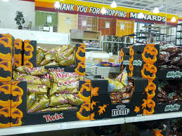 halloween already at menards candy at least 2012