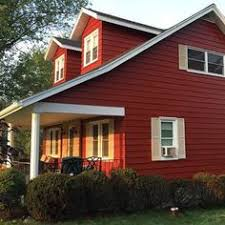 glidden red delicious paint color for front door for the home