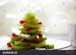 Christmas Tree Fruit Salad Kiwi Pomegranate Stock Photo 116952868