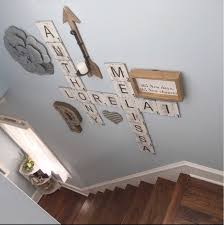distressed home decor large scrabble wall tiles farmhouse decor aged distressed home