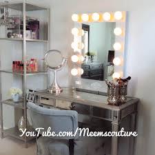 ikea makeup vanity hack ikea vanity mirror hack with lights for bedroom light bulbs