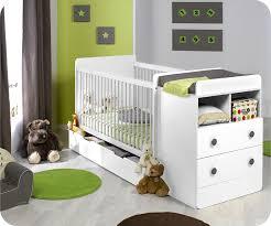 chambre bébé modulable lit bébé évolutif à barreaux malte couleur blanc