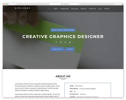 resume website template best resume website templates for cv wplook studio