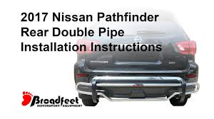 nissan murano rear bumper protector rear double pipe bumper guard 2013 2017 nissan pathfinder youtube