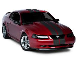 Black Mustang With Red Stripes American Muscle Graphics Mustang Matte Black Lemans Stripes 8 In