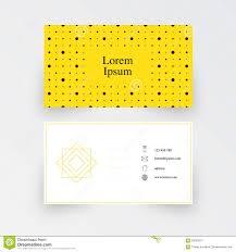 modern simple business card template geometric pattern yellow