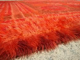 Afro Shag Rug Orange Shag Rugs Roselawnlutheran
