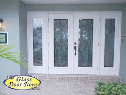 Front Entry Way by Palm Trees Etched On Hurricane Impact Glass Front Entryway New