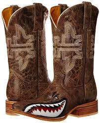 tin haul boots s size 11 tin haul s 11 gnarly shark cowboy boots 1402000070002