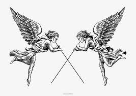imagen blanco y negro en illustrator blanco y negro angel illustrator blanco y negro angel ilustración