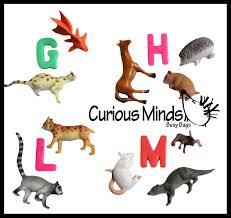 montessori animal match miniature animals with matching cards