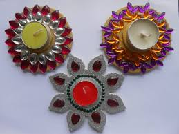 decorate silver floating candle diya at home youtube