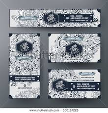 theme line winter corporate identity vector templates set design stock vector hd