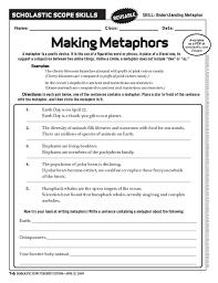 metaphor worksheet free worksheets library download and print