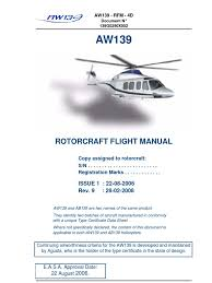 aw139 flight manual poh visual flight rules aeronautics