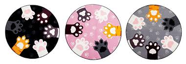 adorable cat paw round accent rug u2022 hauspanther