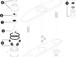 moen kitchen faucet parts diagram gallery and models images classy