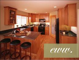 Dark Oak Kitchen Cabinets Kitchen Attractive L Shape Kitchen Decoration Using Dark Brown