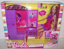 barbie t7183 dress up to make up closet and doll set ebay