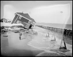 storm washes cottages into the sea at hampton beach n h