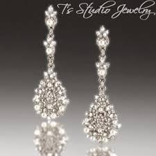 wedding earrings chandelier pearl bridal earrings vintage antique theme wedding