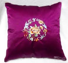 Sofa Cushion Cover Replacement by Sofa Purple Cushion Covers Decorative Latest High End Silk Fabric