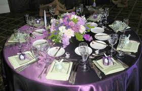 wedding reception tables purple wedding reception table decor wedding corners