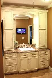 clever bathroom vanities with linen cabinet innovative linen