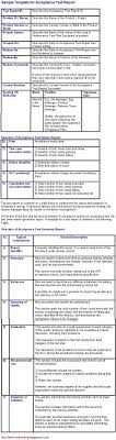 acceptance test report template acceptance test report and its sle template