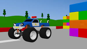 monster truck kids video 3d police monster truck trucks for kids video for children