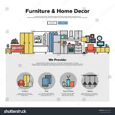 one page web design template thin stock vector 347821850