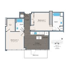 two bedroom floor plan studio one u0026 two bed sw d c apartments lex at waterfront station