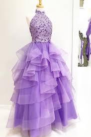 light purple long dress high neck light purple long prom dress