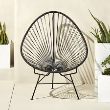 Small Porch Chairs Acapulco Black Egg Outdoor Chair Acapulco Pool Furniture And House