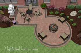 My Patio Design Rectangle Patio Design With Circle Pit Area 395 Sq Ft