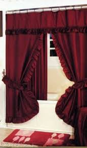 Burgundy Shower Curtain Liner Swag Shower Curtain Liner Rings Burgundy