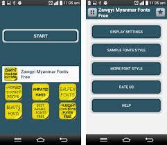 myanmar font apk free zawgyi myanmar fonts free apk version 1 2