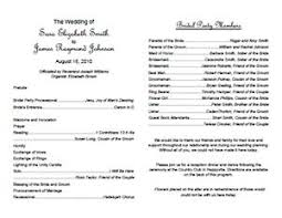 traditional wedding program template weddings printables index lovetoknow