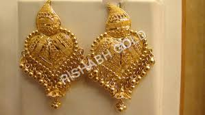 beautiful gold earrings beautiful gold earrings rishabh gold trading