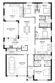 Single Floor Plan by New Home Builders Aspect 28 Single Storey Home Designs