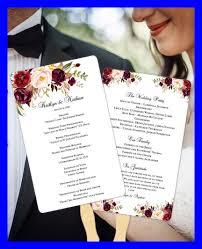 wedding program fans kit amazing peach blush floral wedding program fan template printable