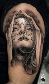 sugar skull memorial com tattoos