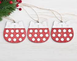 decorations cat polka dot ornaments