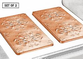 Copper Kitchen Decor by Amazon Com Vintage Embossed Metal Burner Covers Copper Set Of