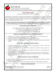 Kindergarten Teacher Resumes Preschool Teacher Resume Template Teachers Aide Or Assistant